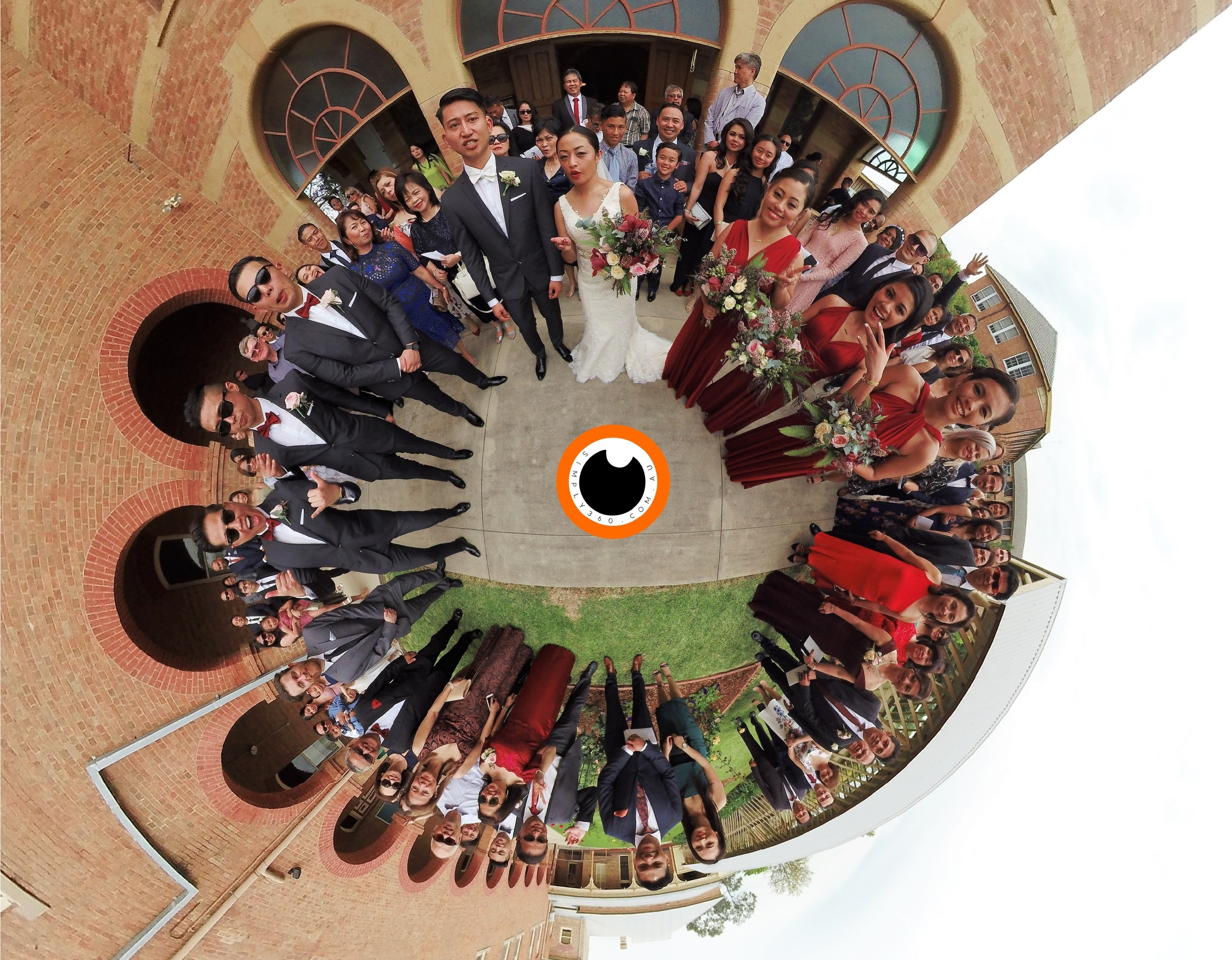 Simply 360 Little Planet Wedding