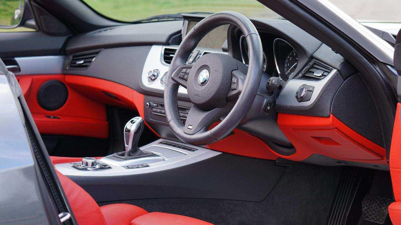 Car Interior Steering Wheel Red Black